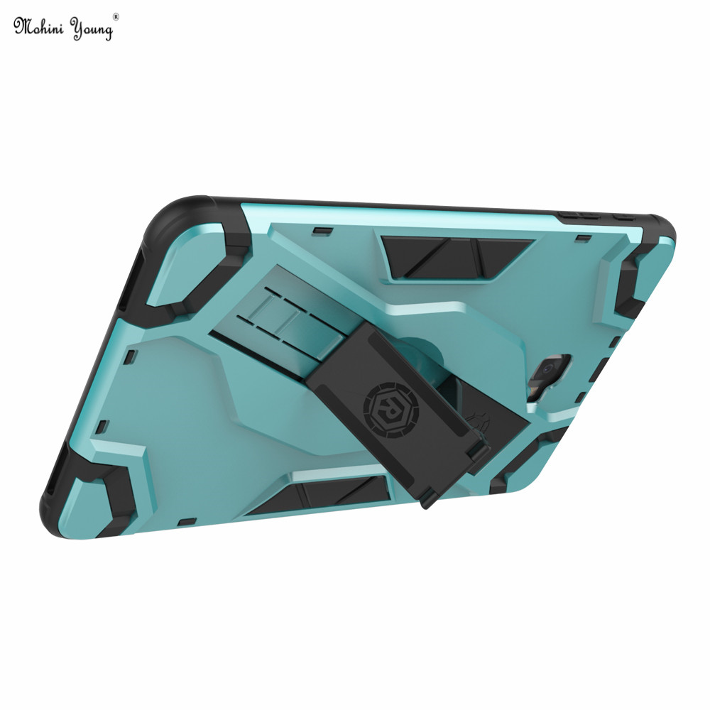 Cool Armor Cover Case For Samsung Galaxy Tab A 10.1 A6 T580N T585C Tablet Funda Hand Hold Hard Back Kickstand Shockproof Case