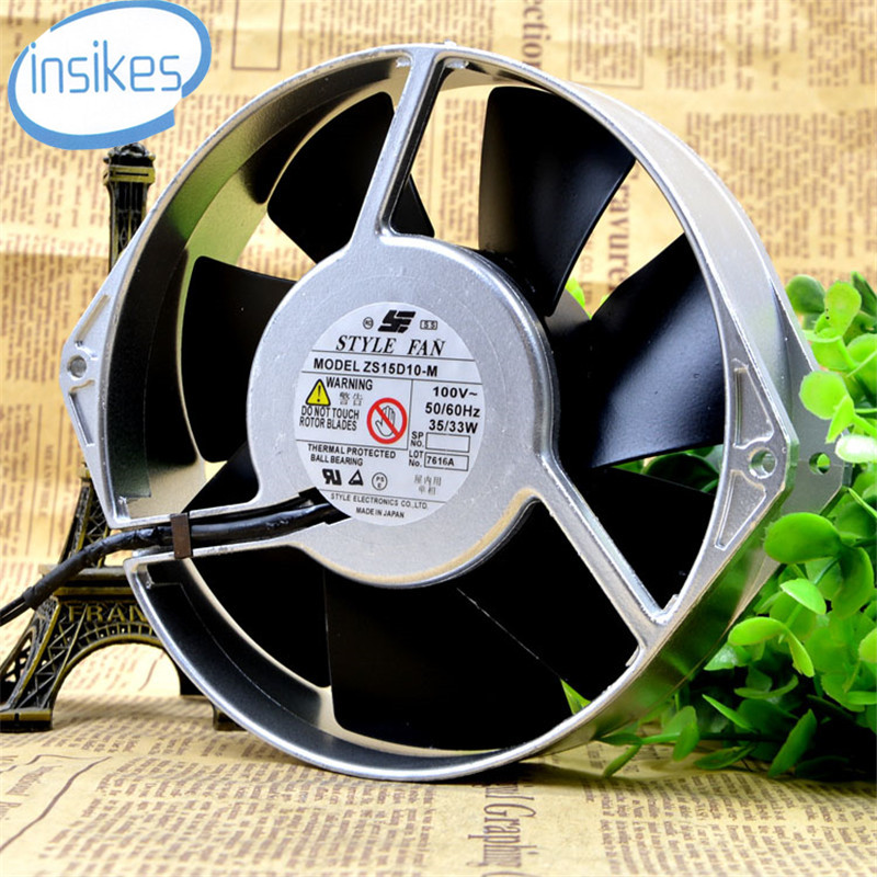 все цены на  ZS15D10-M All Metal High Temperature AC Cooling Fan AC 100V 35W 17238 17cm 172*172*38mm 2 Wires 50/60HZ  онлайн