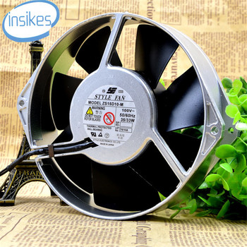 ZS15D10-M All Metal High Temperature AC Cooling Fan AC 100V 35W 17238 17cm 172*172*38mm 2 Wires 50/60HZ