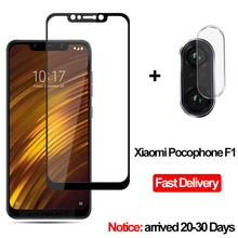 2-in-1 Camera Glass Pocophone F1 Tempered Glass Screen Protector Xiaomi Pocophone F1 Glass Film Pocophone F1 screen protector new original laird pcm588 cpu thermal pad cpu pad laird thermal