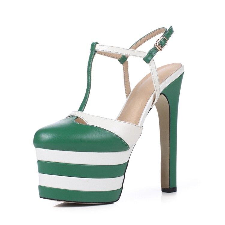 Frau Sexy Zapatos As as Mode Plattform Stil Wasserdichte Nachtclub Schuhe Blockabsatz Frauen High Rom Sandalen Pic Pic Sommer Mujer nCX4Oq