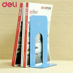 Deli 9263 solid color practical book stand ends 230mm height durable heavy duty metal book end.jpg 250x250