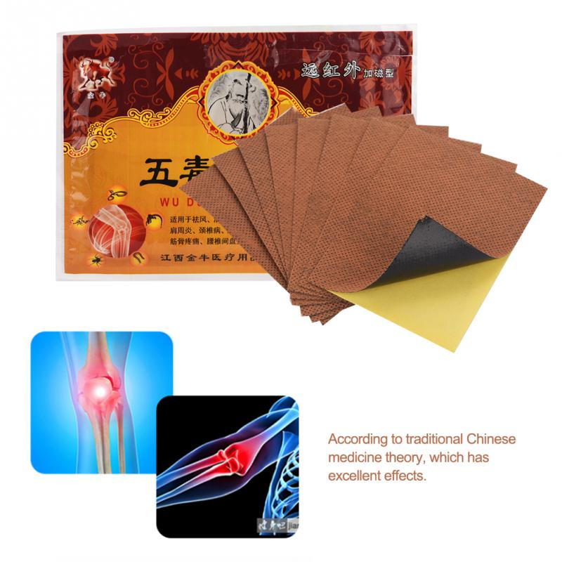 8PCs/Box Pain Relieving Patch Far Infrared Magnetic Patch Medical Backache Neck Leg Joint Arthritis Pain Relieving Plaster Patch
