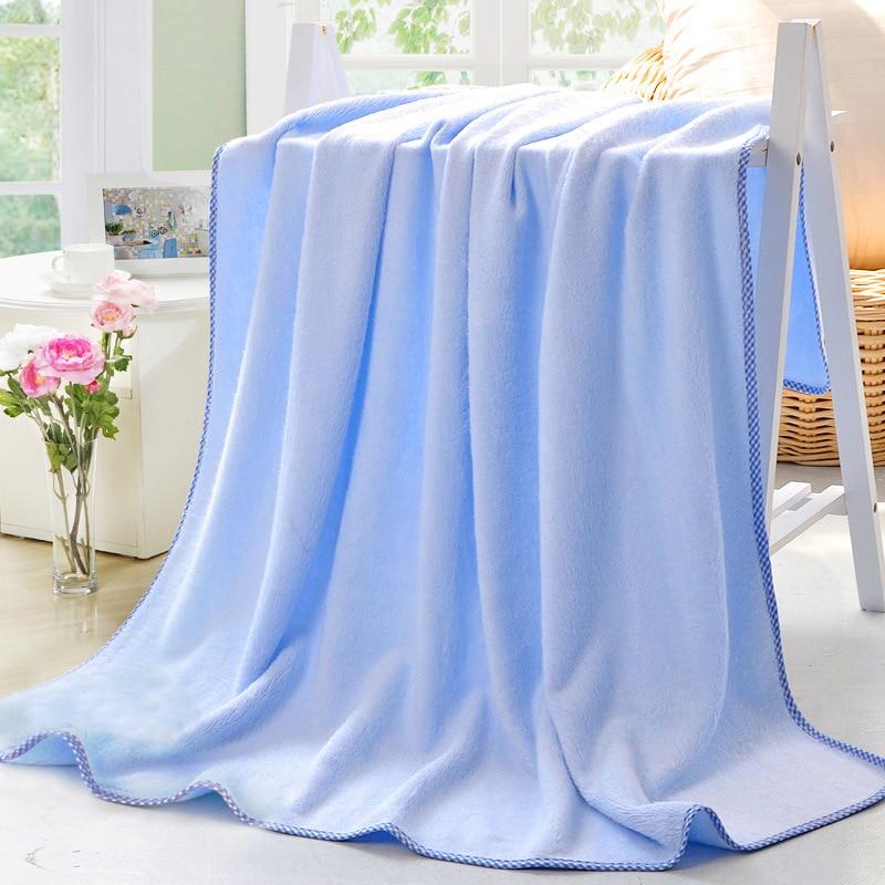 Νέα Μπλε 100% Bamboo Fiber Πετσέτες Home 110x130cm - Αρχική υφάσματα - Φωτογραφία 4