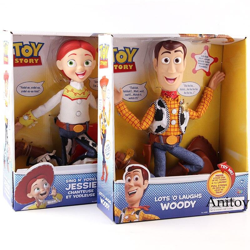 История Игрушек Много o смеется Вуди Синг N Yodel Джесси ПВХ фигурку Коллекционная модель игрушки Дети кукла подарок
