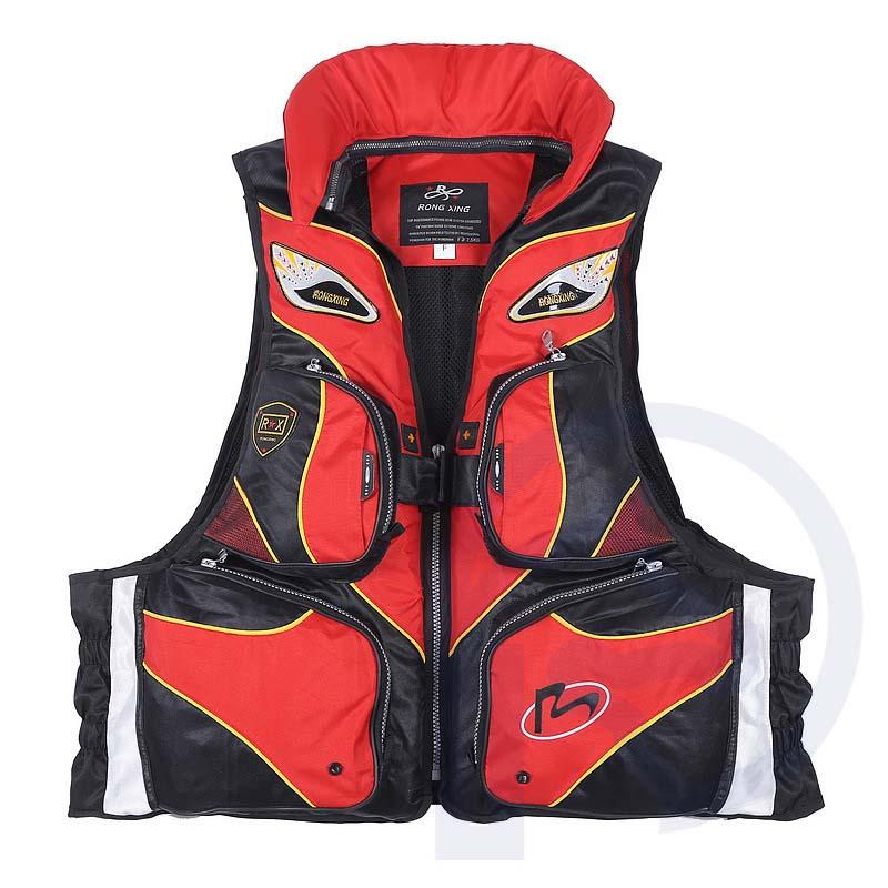 Multi Functional Fishing Vest Waterproof Multi pocket Night Vision Drifting Sailing Boating Safety Fishing Life Vest