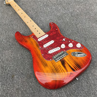 High quality of northeast China ash carbonation electric guitar, red All colors can be, can modify the custom. ASH wood