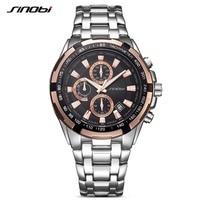 SINOBI Luxury Brand Watch Clock Men Stainless Steel Watchband Strap Man S Quartz Wristwatch Time Relogio