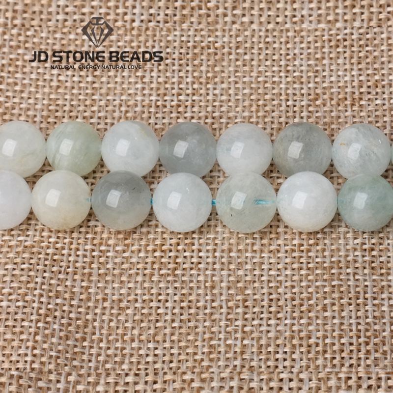 JD Stone Bead Free Shipping Energy Crystal Morgan Stone Beads Aquamarine Beads GEM Accessory Loose Beads
