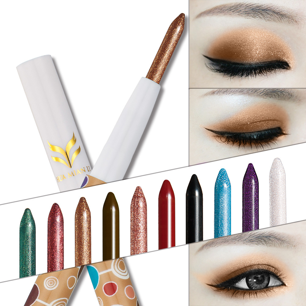 Huamianli 2017 Direct Selling Single 10 color Pearl Color Eye Shadow
