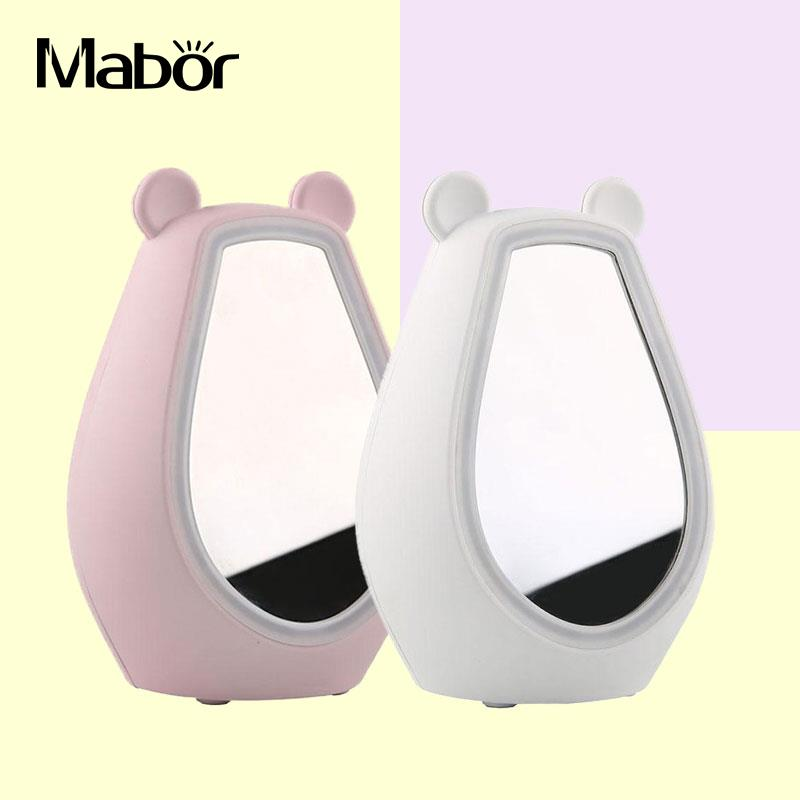Mirror LED Alarm Clock Bluetooth Stereo Speaker Fill Light Night Light цена