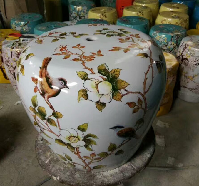 Awesome Ceramic Stool To Sit Indoor Garden Decoration Ceramics Outdoor Ceramic  Chair Stool(China)