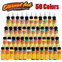 50pcs Tattoo Ink Set Microblading Permanent Makeup Art Pigment 30ml Tattoo Paint For Eyebrow Eyeliner Lip
