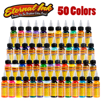 50pcs Eternal tattoo ink set Microblading permanent makeup art pigment 30ml tattoo paint for eyebrow eyeliner lip body total