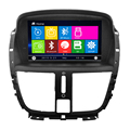 Nova Wince 6.0 DVD player Do Carro de Entretenimento Multimídia para Peugeot 207 sistema de navegação Gps Controle de Volante função CD