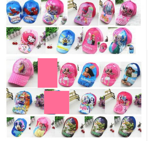 Kleidung & Accessoires 1pcs Cartoon Mickey Minnie Trolls Moana Mix Boy Girl Fashion Sun Hat Mario Casual Cosplay Baseball Cap Children Gifts Mz-01 To Suit The PeopleS Convenience