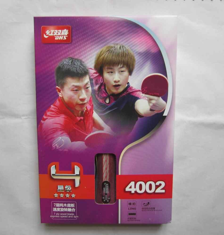 Original DHS 4002 4006 table tennis rackets with 4 stars pimples in rubbers fast attack with loop
