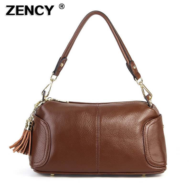 Small Fashion Original Soft Genuine Cow Leather Women s Shoulder Handle Bags Soft Real Cowhide Cross