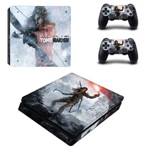 Tomb Raider Vinyl Decal PS4 Slim Skin PS4 Slim Console and Controller Sticker for Sony Playstation 4 Slim Stickers