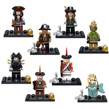 8pcs lot Pirates of the Caribbean Kid Baby Toy Mini Figure Building Blocks Sets Toys Minifigures