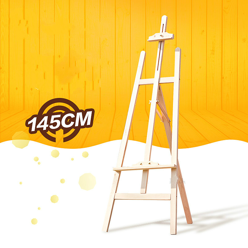 High quality beech detachable easel display advertising easel 1.45m height wooden watercolor easel art tools painting supplies