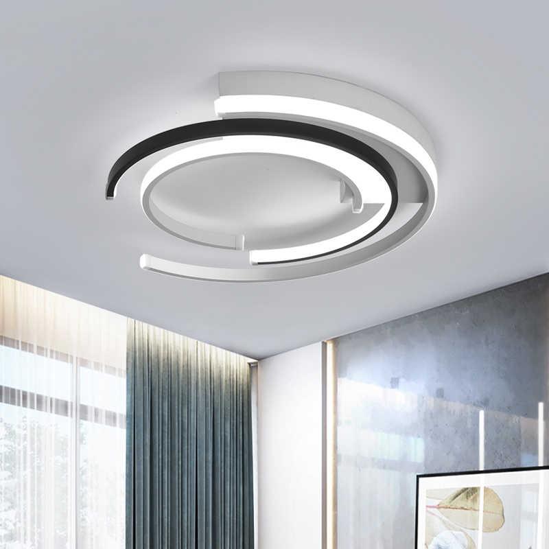 Candelabro de iluminación para sala de estar dormitorio AC85-265V candelabros modernos Lustre luces redondas de techo de aluminio