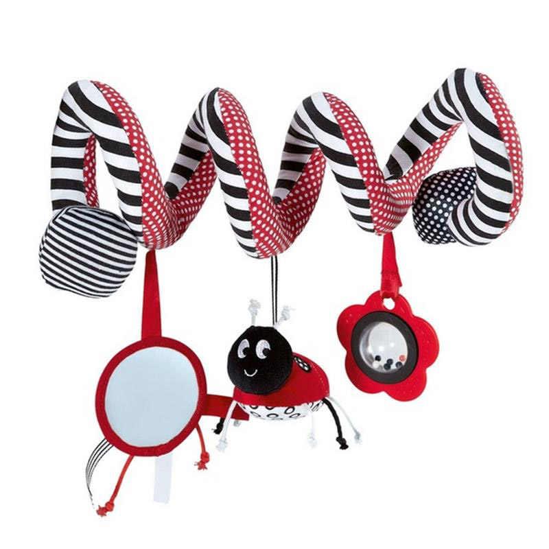 Fulljion อุปกรณ์รถเข็นเด็กทารก Rattles โทรศัพท์มือถือรถเข็นการศึกษาของเล่นสำหรับเด็ก Plush รถยนต์แขวนเตียง Bells Carriage ตุ๊กตา