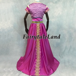 Image 4 - Aladdin Jasmine Cosplay Halloween Cosplay Filme Terno Fantasia Top Calças Roupa Da Princesa Rosa Vermelha