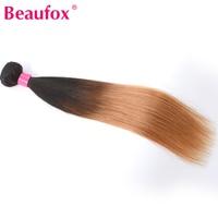 Hisakus Brazilian Straight Ombre Hair Weave Human Hair Bundles T1B 27 2 Tone Color 8 28