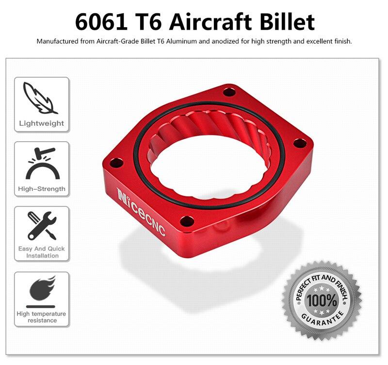 Throttle Body Spacer For Cadillac Escalade ESV EXT Platinum Base 6.2L 2007-2012