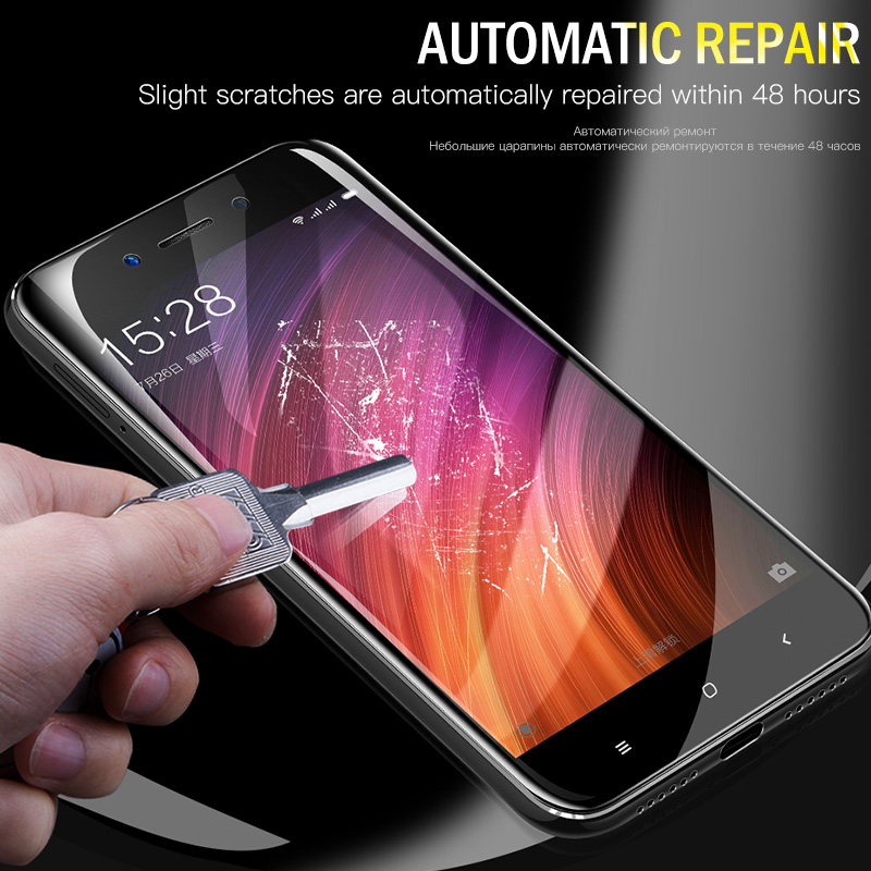 Image 3 - ZNP 4D Full Cover Soft Protective Hydrogel Film For Xiao Redmi 4X 5A 4A Screen Protector For Redmi Note 5 5A Redmi 5 Plus Film-in Phone Screen Protectors from Cellphones & Telecommunications