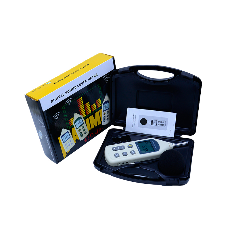30-130dB Digital Sound Level Meter GM1357 Noise Tester in decibels LCD A/C FAST/SLOW + Carry box digital display sound level meter usb gm1356 noise tester meter with noise value 30 130db a c fast slow db with box
