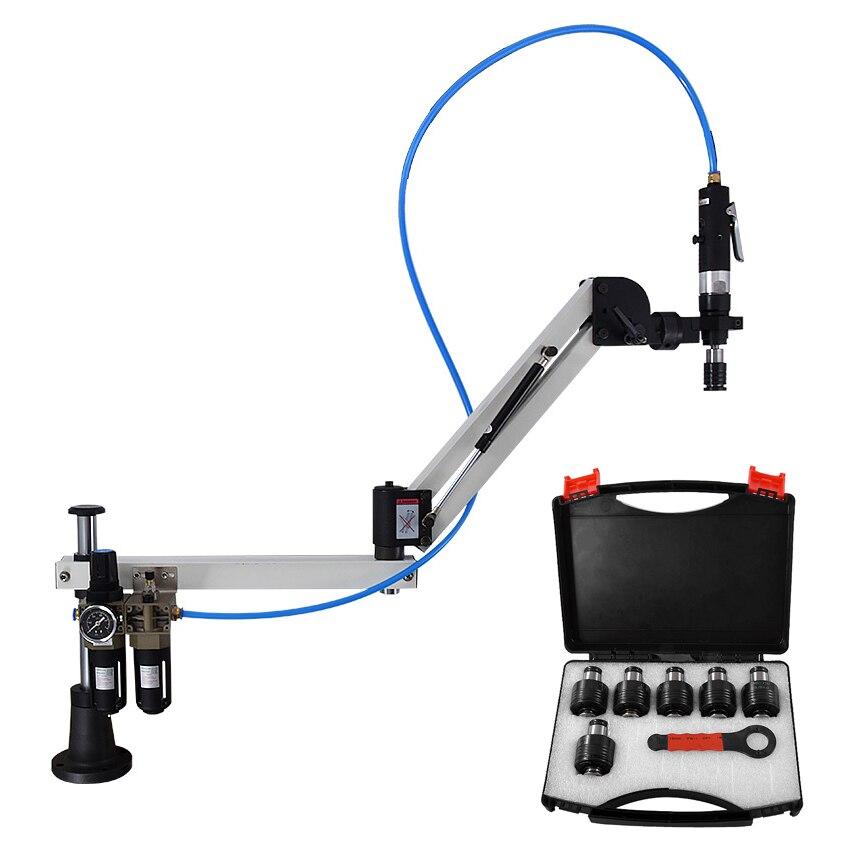 Máquina Pneumática Tocando WT-D-12W M3-M12 Tapping Machine 1000mm 360 graus Universal Braço Flexível, 400 rpm 6-8 kg pressão de Trabalho