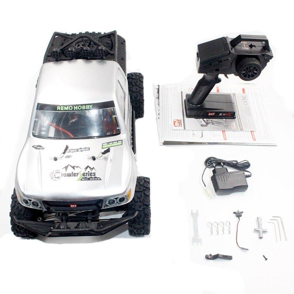 Remo 1093-SJ 1/10 2.4 ghz 550 Brossé RC Voiture Off-road Truck Rock Crawler RTR Automatique Véhicule Jouets De Voiture pour Enfants Cadeau