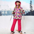 Winter Children Clothing Sets Outdoor Waterproof Windproof Girls Ski Jacket+Bib Pants 2pc Girls Ski Suit for 5-15 Years
