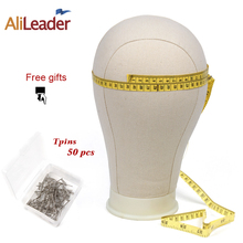 Alileader 20/21/22/23/24/25inch White Block Canvas Manikin Head Wigs Mannequin Displaying Making Styling Model