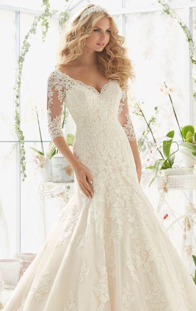 Stunning Beautiful Mermaid Lace Wedding Gowns Plus Size Wedding ...
