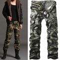 Men Pants Casual Cotton Military Army Cargo Pants Camo Combat Work Pants Trousers R50 Asian/Tag Size 28-38 (No Belt)