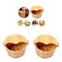 2PCS Handmade Wood Foot Massage Spa Bucket for Foot Soaking Sauna