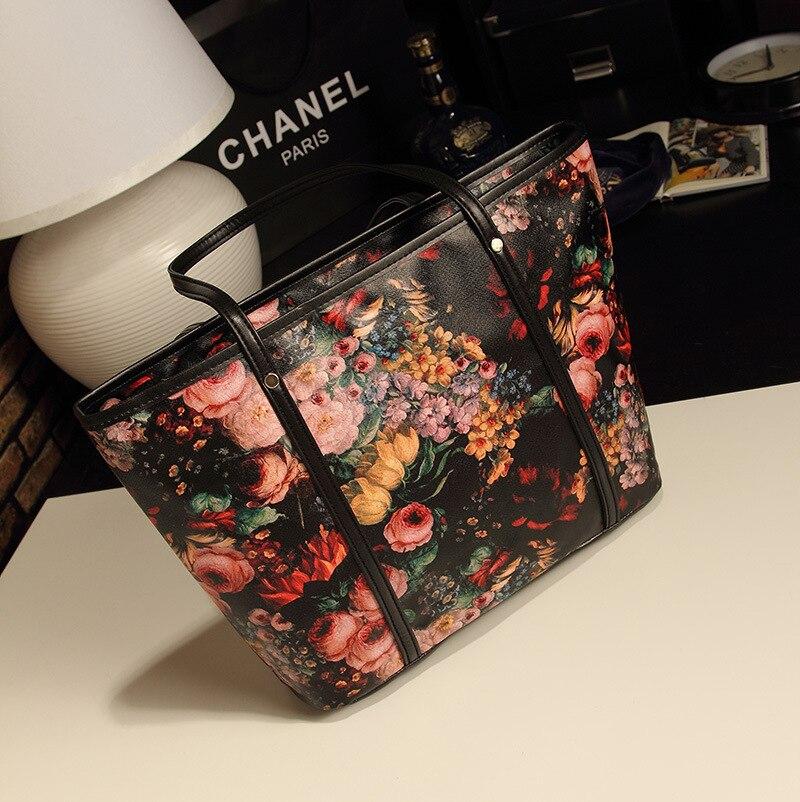2018 new retro big bag Korean fashion ladies bag shoulder bag oil painting bag factory delivery 1