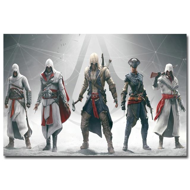 Шелковый Плакат гобелен Кредо убийцы Assassins Creed 3 в ассортименте