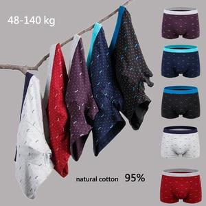 Image 2 - Artı boyutu 9XL erkek iç çamaşırı 5 adet/grup erkek Boxer iç çamaşırı şort pamuk Cuecas Boxer erkekler katı külot erkek Boxer