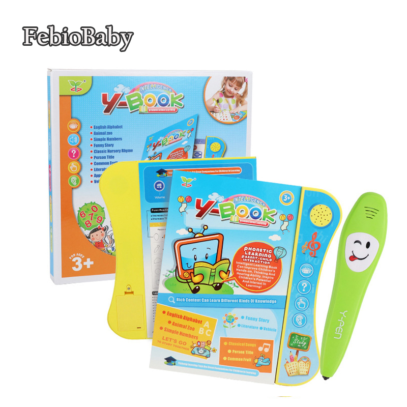 Baby Educational Voice Reading Machine Book Smart Reading Pen Children Study Leaning Story Toys English Language Operation