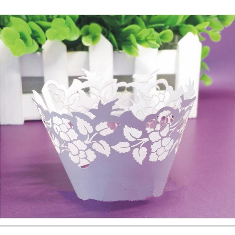 50pcs Leaves Cupcake Wrappers, Cup cake Muffin Paper Wrapper Wedding Christmas Birthday Party Home Decoration Supplies