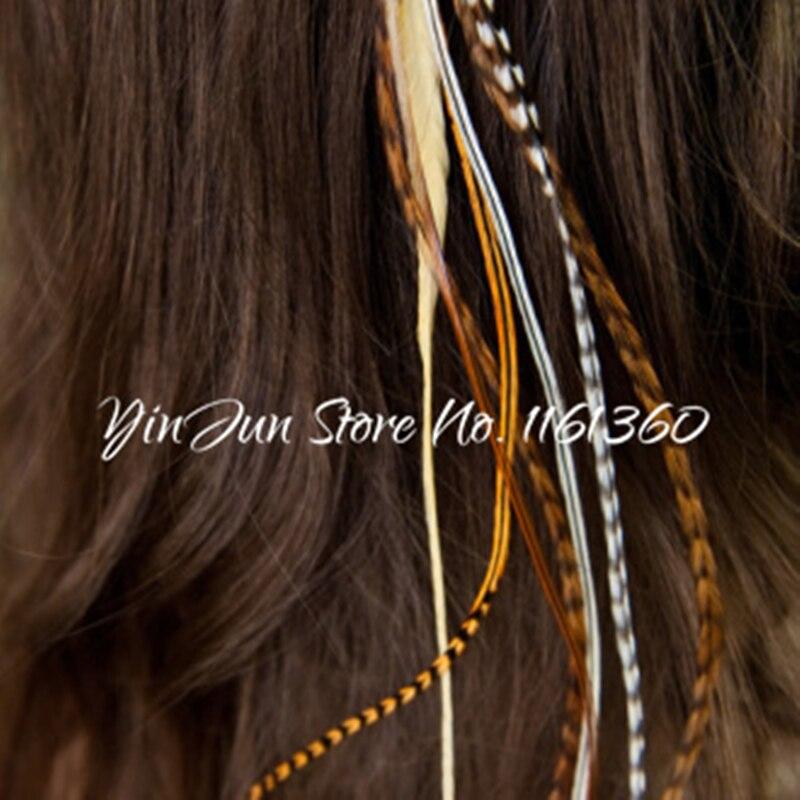 12 pcs 6 12 grizzly ombre echt haar haan veer hair extensions