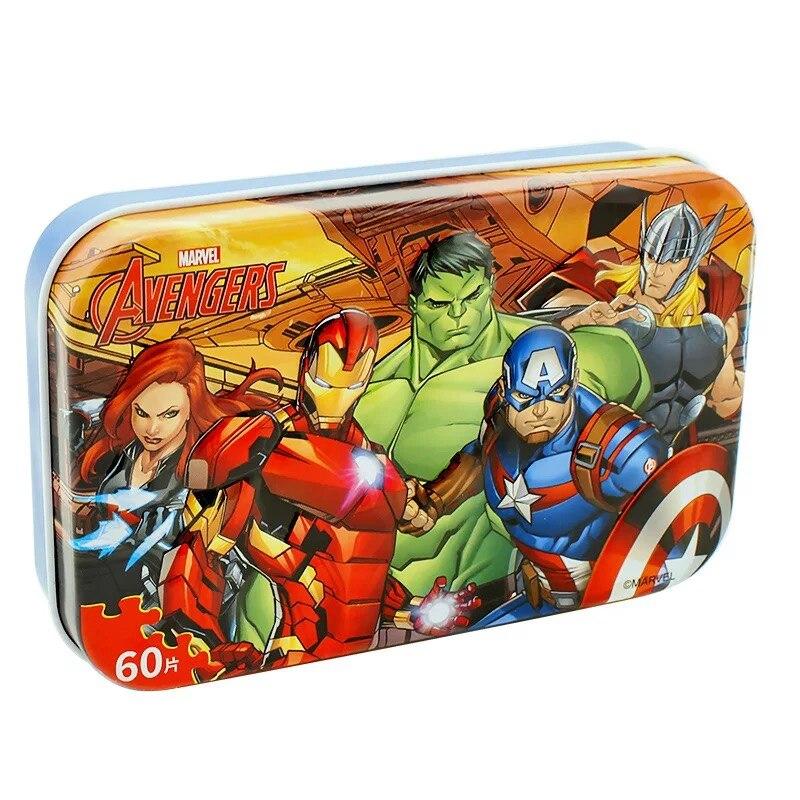 Original Disney  Avengers Spiderman Car Disney Puzzle Toy Children Wooden Jigsaw Puzzles Kids Educational Toys for Children Gift 3