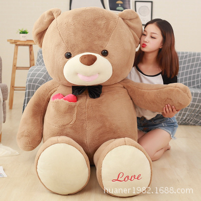 Giant 80cm Cute big size Teddy bear doll plush toys Stuffed Animals Bear Dolls with Love Toys for girl Birthday Gifts fancytrader big giant plush bear 160cm soft cotton stuffed teddy bears toys best gifts for children