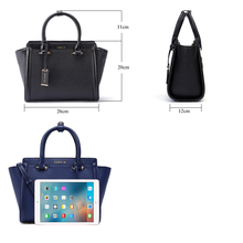 ESUFEIR Brand Genuine Leather Women Handbag Cross Pattern Cow Leather Shoulder Bag Fashion Design Top Handle Trapeze Women Bag