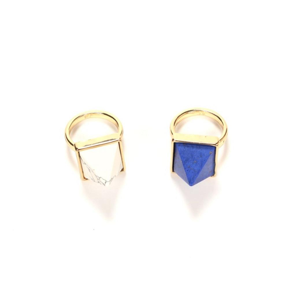 2017 free shipping fashion women New Jewelry wholesale Triangular  ring minimalist ring