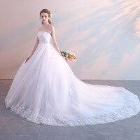 Wedding Dresses 2019 New Pregnant Women Large Size Korean Bride Wedding Tube Top Princess Dream White Wedding Dress